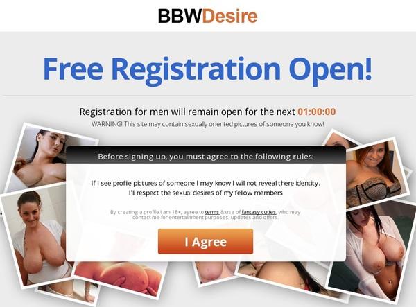 Free Bbwdesire Premium Account
