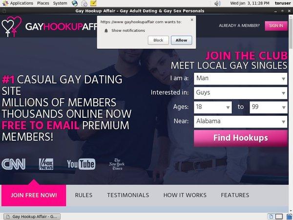 Free Account Gayhookupaffair.com